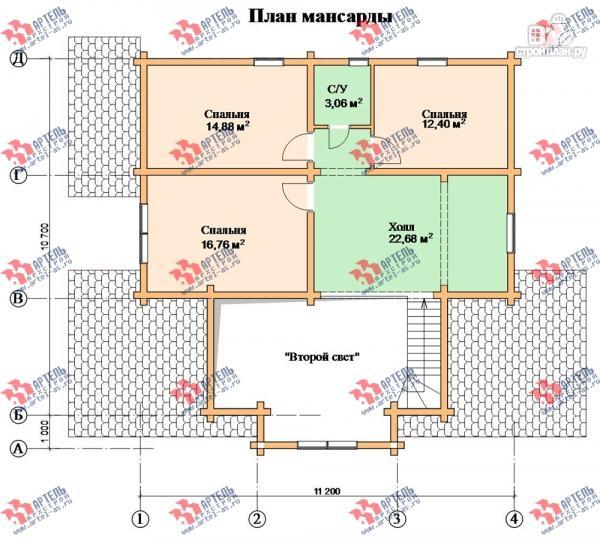 Фото 7: проект дом из сухого профиля со вторым светом и двумя террасами