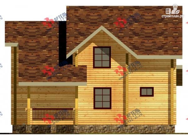 Фото 4: проект дом из сухого профиля со вторым светом и двумя террасами