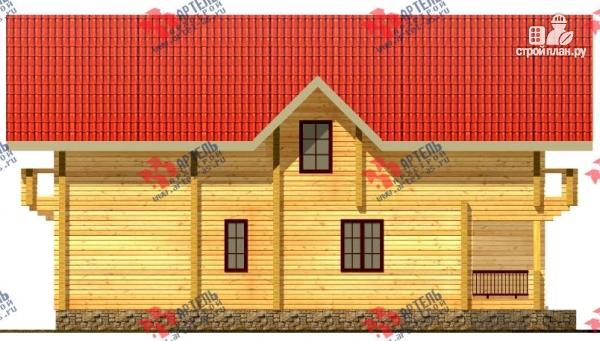 Фото 3: проект дом из сухого профиля с двумя балконами
