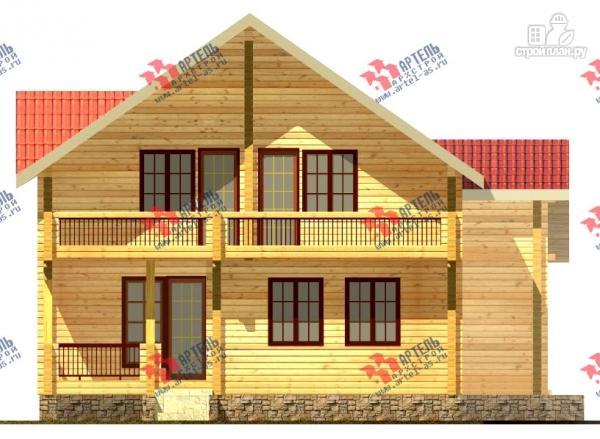 Фото 2: проект дом из сухого профиля с двумя балконами