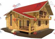 Фото: дом из сухого профиля с двумя балконами