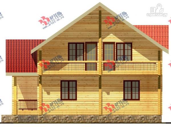 Фото 4: проект дом из сухого профиля с двумя балконами