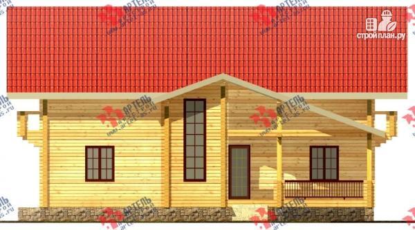 Фото 5: проект дом из сухого профиля с двумя балконами