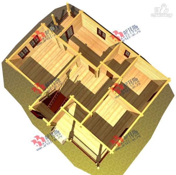 Фото 6: проект дом из сухого профиля с двумя балконами
