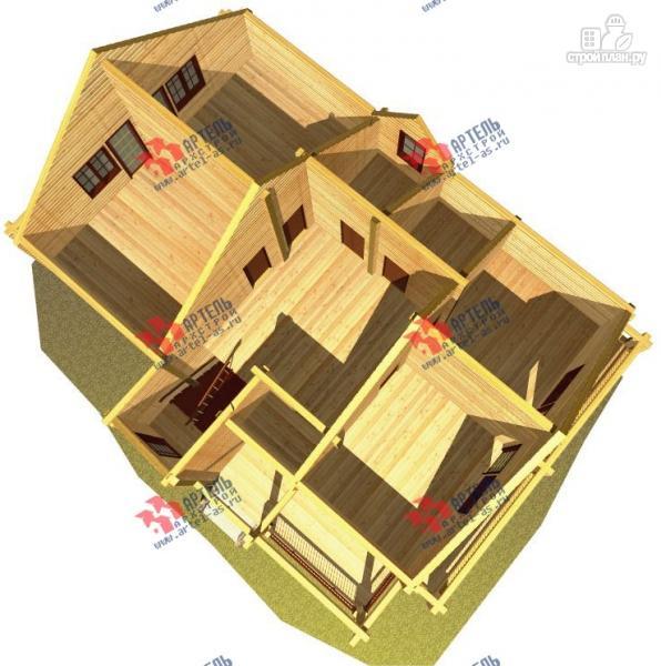 Фото 7: проект дом из сухого профиля с двумя балконами