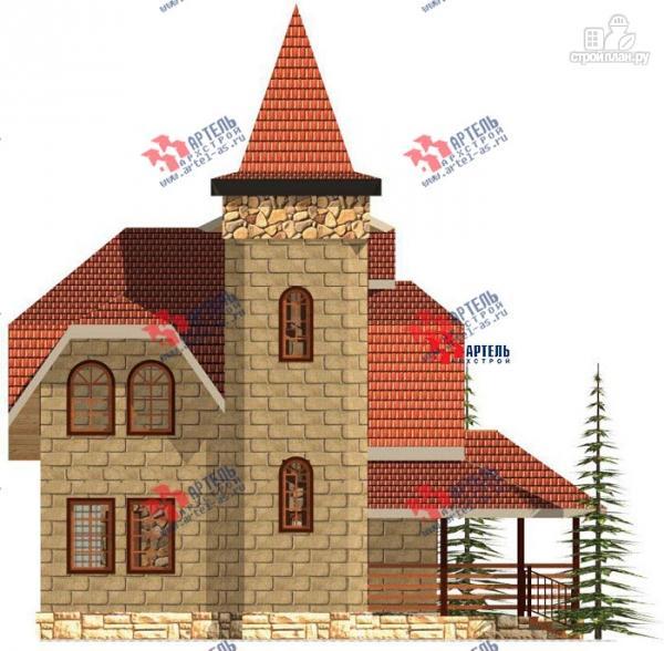 Фото 2: проект дом из газосиликатных блоков, с парной