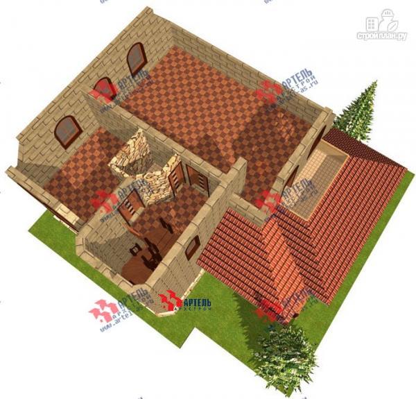 Фото 7: проект дом из газосиликатных блоков, с парной