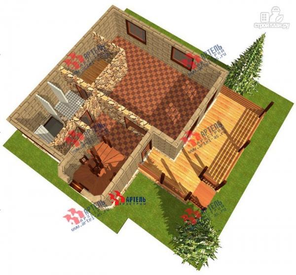 Фото 6: проект дом из газосиликатных блоков, с парной