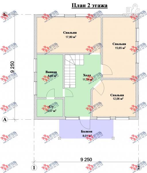 Фото 9: проект дом из блоков с крыльцом и балконом