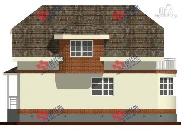 Фото 5: проект дом из блоков с эркером и балконом