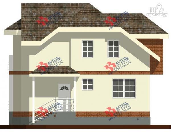 Фото 6: проект дом из блоков с эркером и балконом
