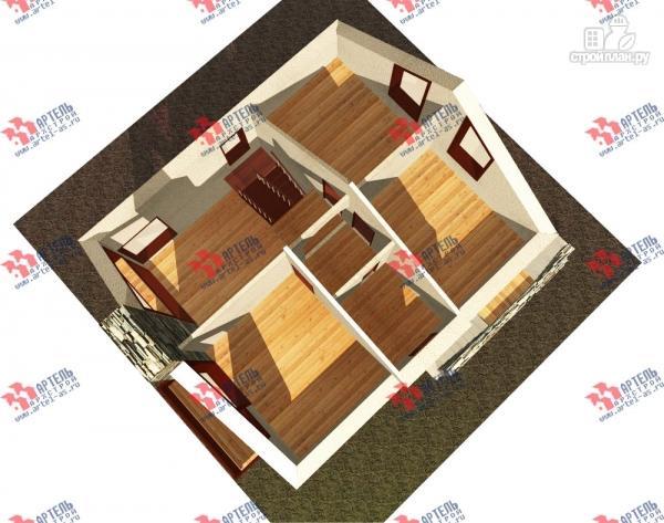 Фото 7: проект дом из блоков с высоким фундаментом