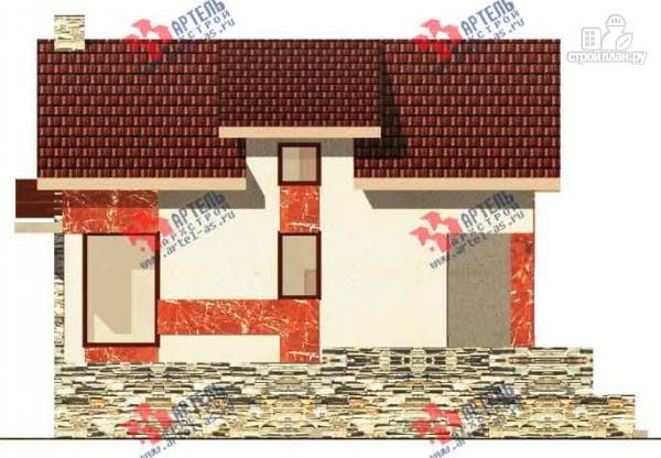 Фото 3: проект дом из блоков с высоким фундаментом