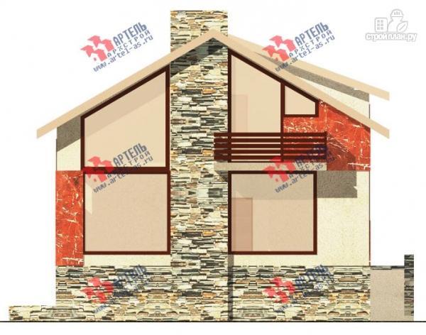 Фото 4: проект дом из блоков с высоким фундаментом