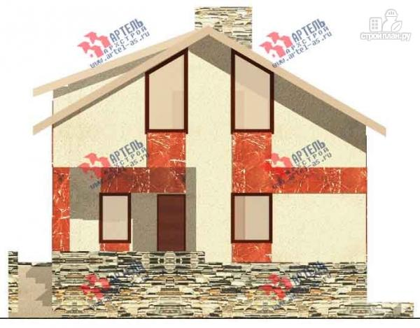 Фото 2: проект дом из блоков с высоким фундаментом