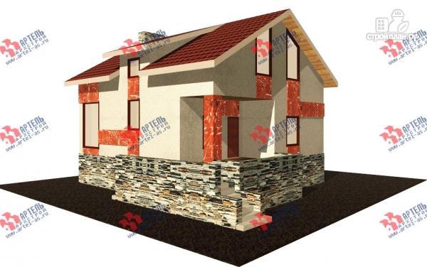 Фото: проект дом из блоков с высоким фундаментом