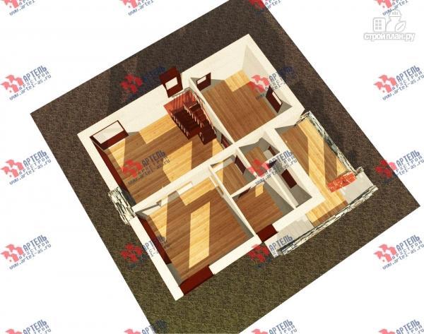 Фото 6: проект дом из блоков с высоким фундаментом