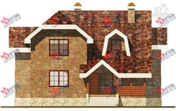 Фото 2: проект дом из блоков с террасой