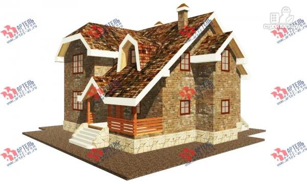 Фото: проект дом из блоков с террасой