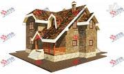Проект дом из блоков с террасой