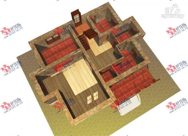 Фото 6: проект дом из блоков с террасой