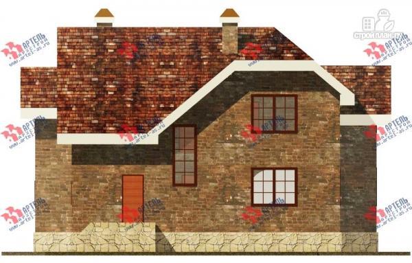 Фото 4: проект дом из блоков с террасой