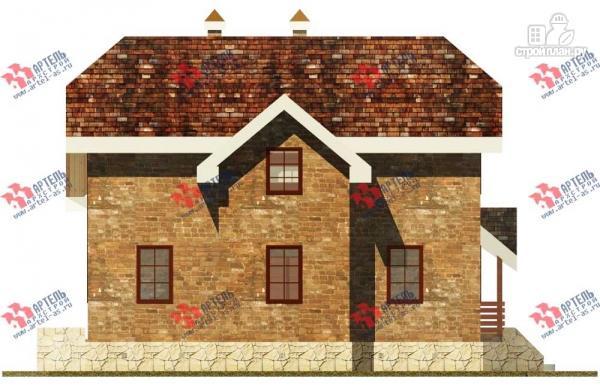 Фото 3: проект дом из блоков с террасой