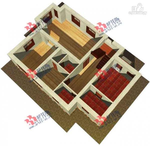 Фото 6: проект дом из блоков, с парилкой