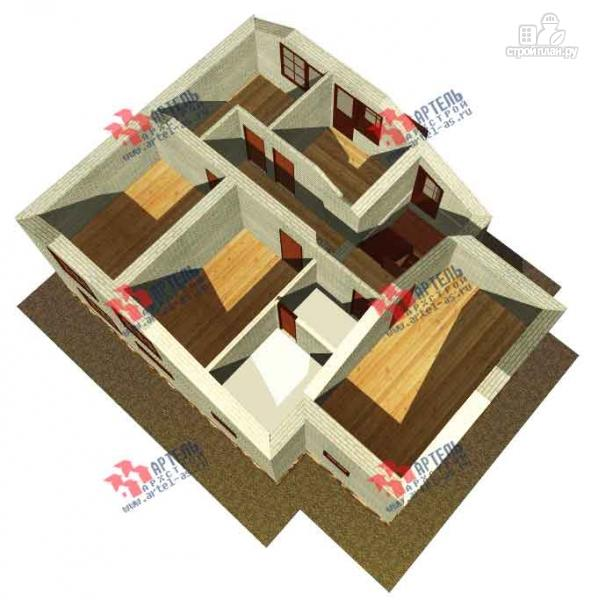 Фото 7: проект дом из блоков, с парилкой