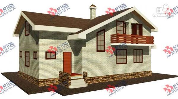 Фото: проект дом из блоков, с парилкой