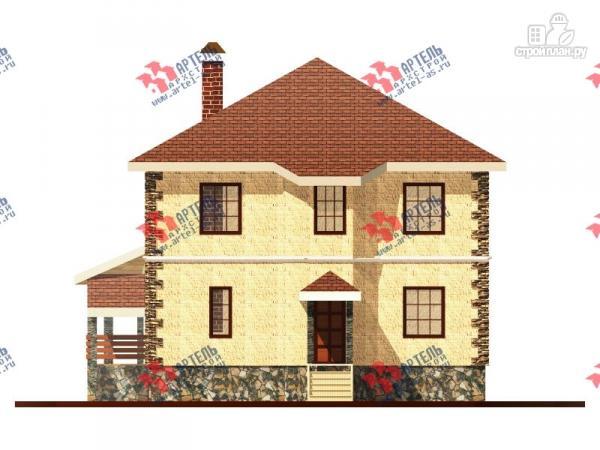 Фото 4: проект двухэтажный дом 10х10 c угловой террасой
