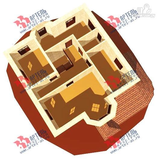 Фото 7: проект двухэтажный дом 10х10 c угловой террасой