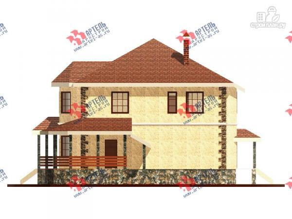 Фото 5: проект двухэтажный дом 10х10 c угловой террасой