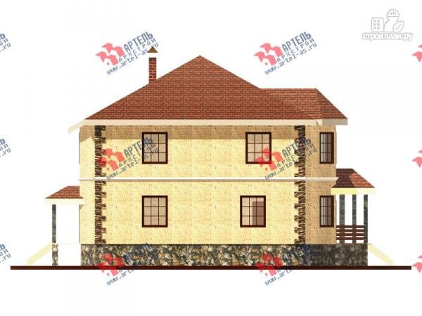 Фото 3: проект двухэтажный дом 10х10 c угловой террасой