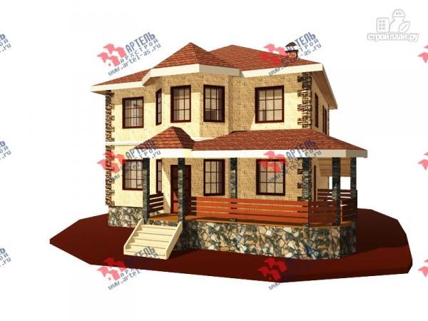 Фото: проект двухэтажный дом 10х10 c угловой террасой