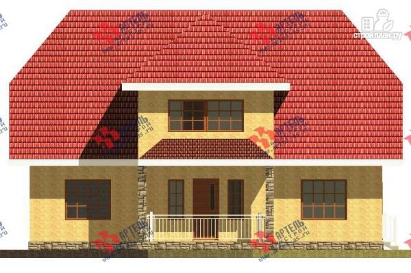 Фото 6: проект дом из газосиликатных блоков с большой гостиной
