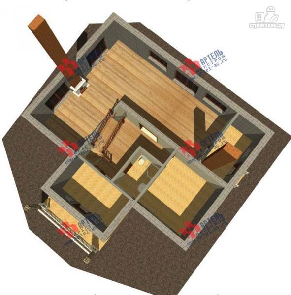 Фото 2: проект дом из газосиликатных блоков с большой гостиной