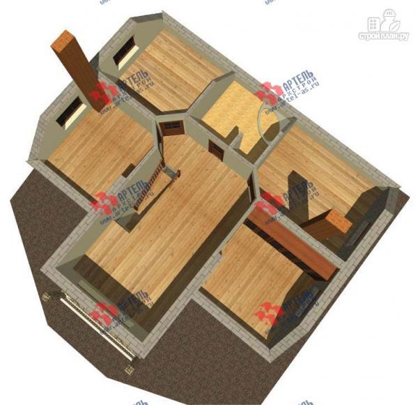 Фото 3: проект дом из газосиликатных блоков с большой гостиной