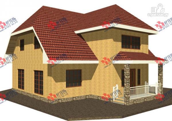 Фото: проект дом из газосиликатных блоков с большой гостиной
