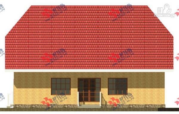 Фото 4: проект дом из газосиликатных блоков с большой гостиной