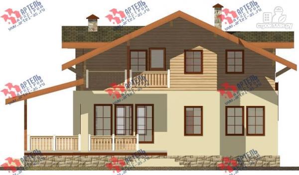 Фото 4: проект дом из газосиликатных блоков с большой террасой