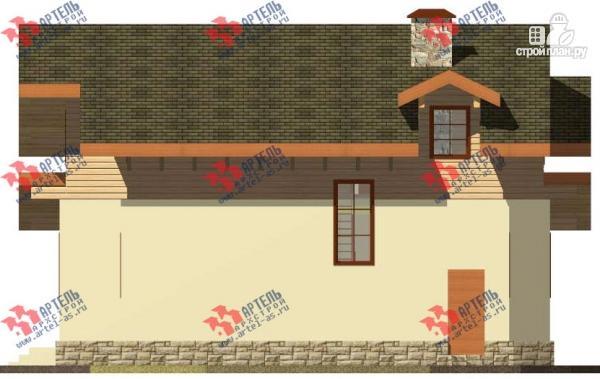 Фото 5: проект дом из газосиликатных блоков с большой террасой
