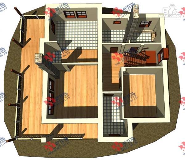 Фото 2: проект дом из газосиликатных блоков с большой террасой