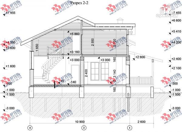 Фото 10: проект дом из газосиликатных блоков с большой террасой
