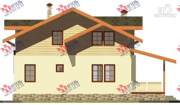 Фото 6: проект дом из газосиликатных блоков с большой террасой