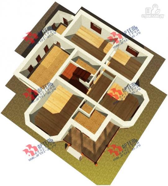 Фото 6: проект дом из газосиликатных блоков с гаражом