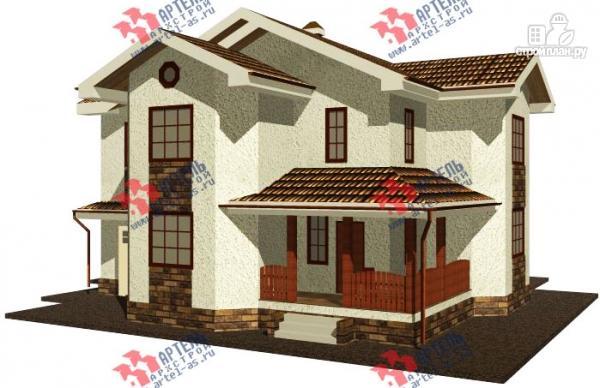 Фото: проект дом из газосиликатных блоков с гаражом