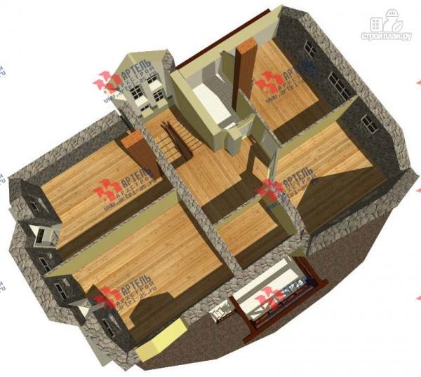 Фото 3: проект дом из блоков с двумя балконами