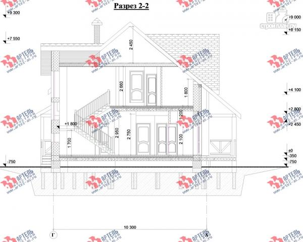 Фото 10: проект дом из блоков с двумя балконами
