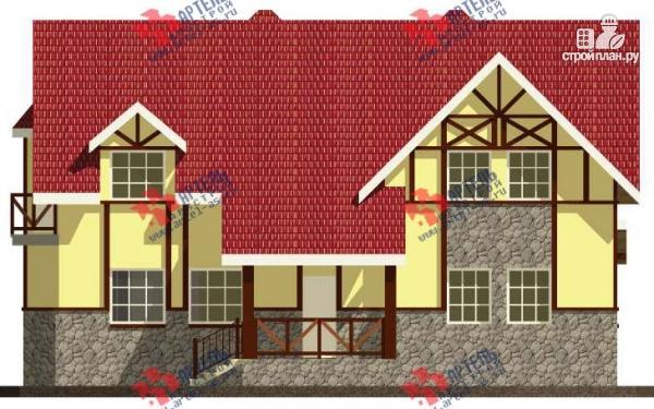 Фото 4: проект дом из блоков с двумя балконами